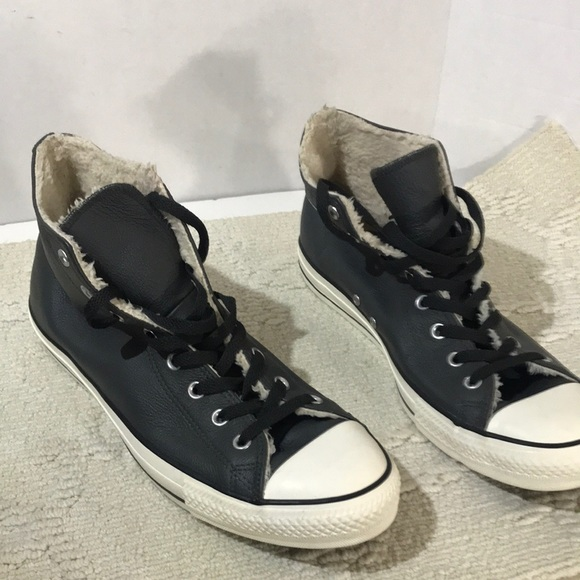 Converse All Star Size 13 look like leather .